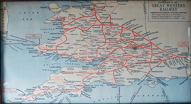 GWR map normally used in a coach