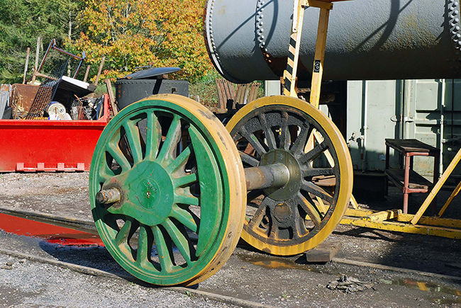 Austerity wheelset ouside SDRE works Buckfastleigh