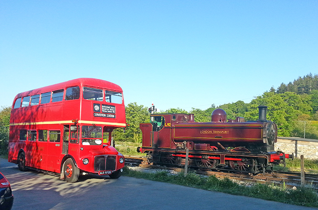 RM1872 and L.92 pose at Staverton 2013 May 26