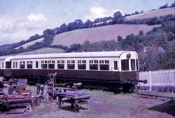 BR(W) Autocoach in Buckfastleigh shed August 1966