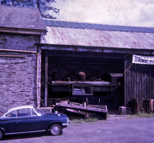 64xx in Buckfastleigh shed August 1966